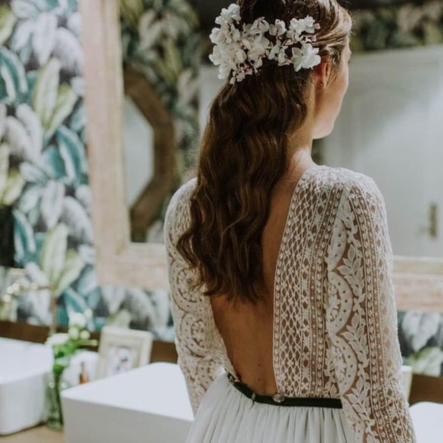 tocados artesanales hechos a medida para novias