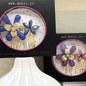 accesorios de pelo para invitada fiesta boda peinetas adornos con flores