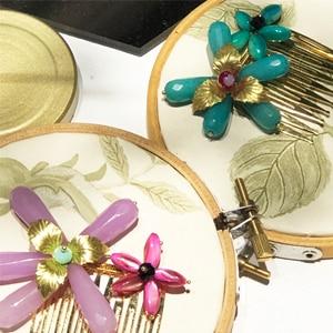 adornos de pelo con flores en peineta para invitadas boda fiesta accesorios moda mujer pelo
