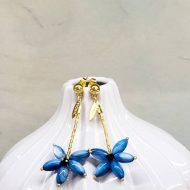 pendientes azul klein largos para invitada de boda sencillos y baratos