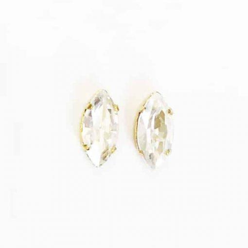 pendientes cristal blanco pequeños sencillos fiesta invitada boda