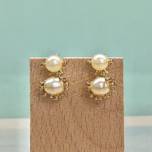 pendientes de perlas para fiesta y boda de mujer moda clásicos pequeños cortos