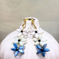 pendientes azules invitadas boda azul pavo eléctrico azulón klein