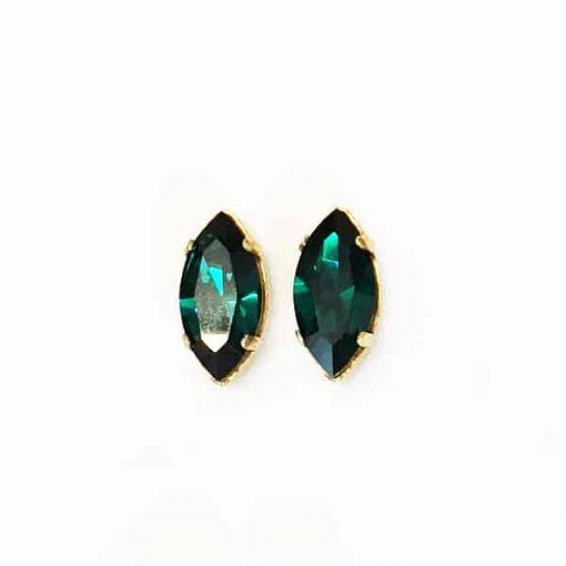 pendientes verde esmeralda de cristal swarovski para invitadas de boda