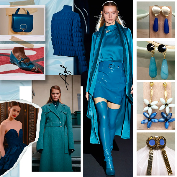 pendientes azules azul eléctrico klein turquesa celeste lavanda azulón petróleo y marino invitadas boda