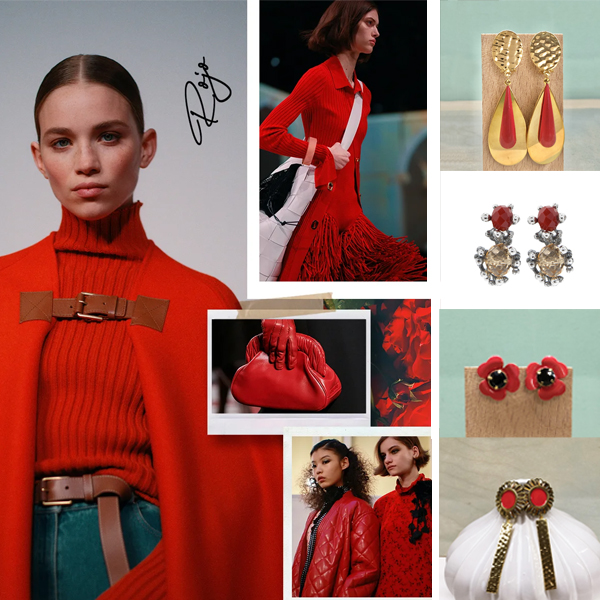 pendientes rojos para vestido rojo