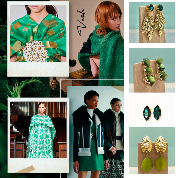 pendientes verdes esmeralda oliva aceituna lima aguamarina verdeagua invitadas boda fiesta moda mujer